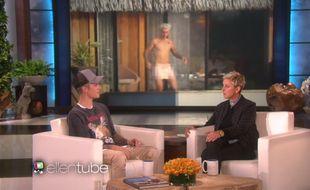 Justin Bieber, invité au «Elle DeGeneres Show», le 9 novembre 2015.