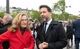 Le vice-président de l'Assemblée, Hugues Renson, et la garde des Sceaux Nicole Belloubet à Paris, le 8 mai 2019.