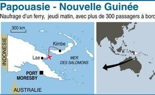 Plus d'une centaine de personnes étaient portées disparues vendredi, après le naufrage d'un ferry la veille au large de la Papouasie-Nouvelle Guinée, alors que les efforts pour retrouver des survivants se poursuivaient bien qu'aucun rescapé n'ait été retrouvé ce jour.