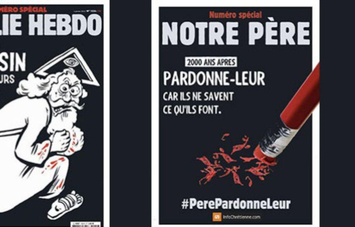 Des protestants évangéliques ont décidé de répondre par la parodie à la caricature parue mercredi à la une de Charlie Hebdo – Capture d'écran - www.infochretienne.com