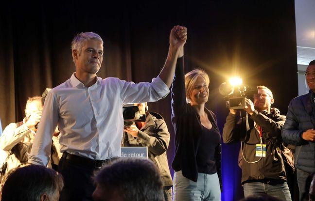 Laurent Wauquiez, président Les Républicains de la région Auvergne-Rhône-Alpes, et Virginie Calmels, adjointe au maire de Bordeaux, le 3 septembre 2017 au Mont Mezec