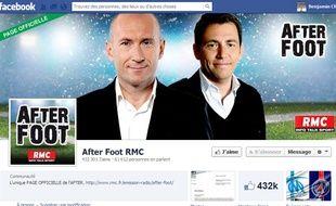 Capture d'écran de la page Facebook de l'émission After Foot RMC