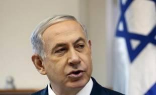 Le Premier ministre israélien Benjamin Netanyahu le 28 décembre 2014 dans son bureau à Jérusalem