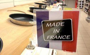Illustration d'un rayon «made in France» dans un hypermarché.