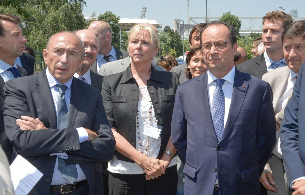 Gérard Collomb et François Hollande lors de la visite du président de la République à Lyon, le 1er juillet 2015. – Reynaud/ Sipa