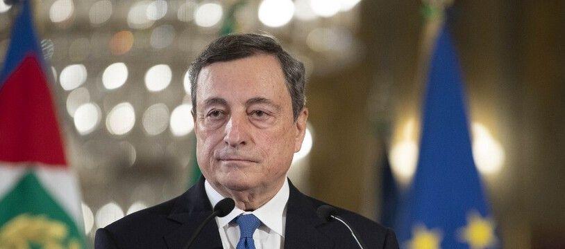 Mario Draghi, ex-président de la Banque centrale européenne, le 3 février 2021 à Rome.