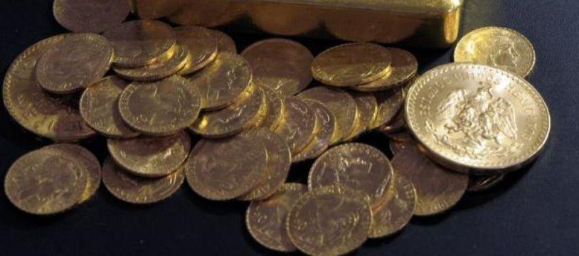Un lingot et des pièces d'or