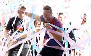 Le chanteur Chris Martin et son groupe Coldplay