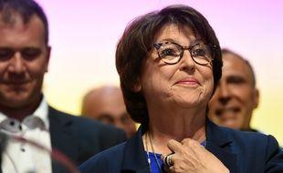 La maire (PS) de Lille, Martine Aubry, le soir de son élection, le 28 juin 2020.