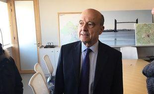 Alain Juppé, président de Bordeaux Métropole, le 27 février 2018 à Bordeaux.