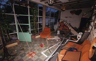 Dans le quartier périphérique de l'usine AZF, à Toulouse, le 22 septembre 2001.