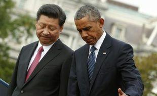 Le président américain Barack Obama accueille le président chinois Xi Jinping à la Maison Blanche, le 25 septembre 2015 à Washington