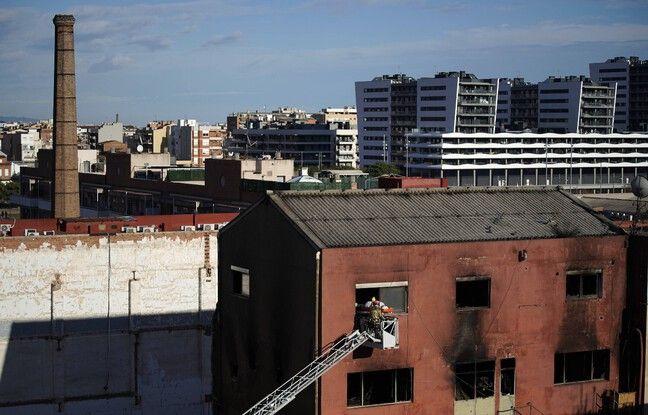 648x415 incendie entrepot desaffecte badalone pres barcelone espagne fait trois morts mercredi 9 decembre 2020