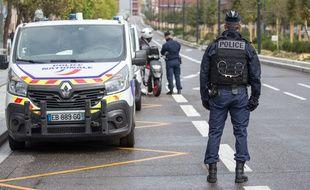Lors d'un contrôle de police sur les allées Jean-Jaurès de Toulouse (illustration).