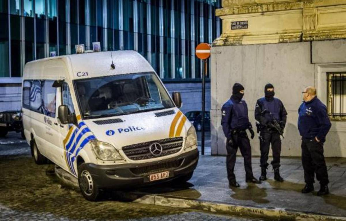 Illustration de la police belge à Bruxelles, le 15 janvier 2015. – Jonas Roosens BELGA