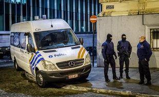 Illustration de la police belge à Bruxelles, le 15 janvier 2015.