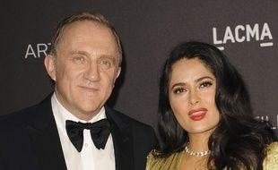 Le milliardaire Francois-Henri Pinault et son épouse, l'actrice Salma Hayek
