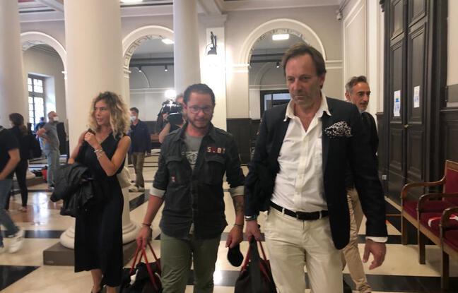 Les avocats de Cédric Jubillar, Mes Emmanuelle Franck, Jean-Bapriste Alary et Alexandre Martin à la cour d'appel de Toulouse.