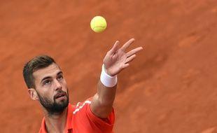 Benoît Paire à Roland-Garros le 28 mai 2014.