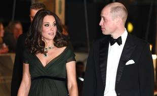 Kate Middleton et son mari le prince William lors de la cérémonie des Bafta, à Londres le 18 février 2018