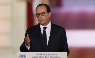 Le président François Hollande lors de sa conférence de presse à l'Elysée le 18 septembre 2014