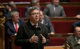 Jean-Luc Mélenchon à l'Assemblée.