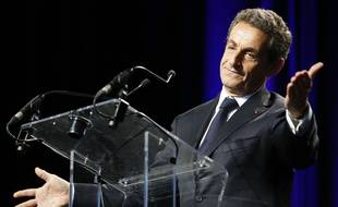 Nicolas Sarkozy lors d'un meeting le 22 mai 2015.