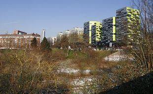 Lille, le 6 féŽvrier 2012. La friche Saint-Sauveur, à Lille, appartenait alors à La SNCF.