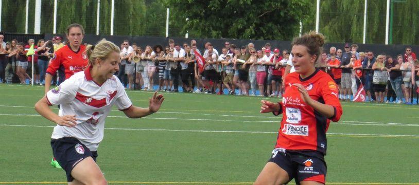 A Villeneuve d'Ascq, le 11 juin 2017 - Scene de jeu lors du match entre le Losc et La Roche-sur-Yon, en, D2 feminine.