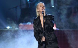 Christina Aguilera a chanté lors des American Music Awards, le 19 novembre 2017.