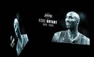 Un hommage rendu à Kobe Bryant à Dallas, le 27 janvier 2020.