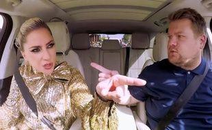Lady Gaga et James Corden dans le «Carpool Karaoke».