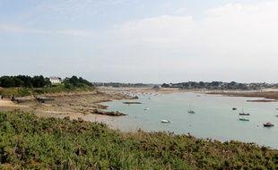 Illustration du littoral de la côte d'Emeraude, en Ille-et-Vilaine. Ici à Saint-Briac-sur-Mer.