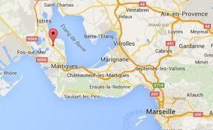 Localisation de Saint-Mitre-les-Remparts