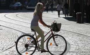 Illustration vélo. Strasbourg le 18 09 2012.