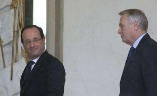 François Hollande et Jean-Marc Ayrault à l'Elysée le 30 janvier 2013.