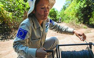 Lam Ngeung, 30 ans, démine le Laos depuis sept ans.