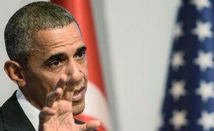 Le président américain Barack Obama lors d'une conférence de presse clôturant le G20 à Antalya en Turquie, le 16 novembre 2015