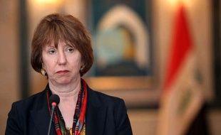La chef de la diplomatie européenne, Catherine Ashton, lors d'une conférence de presse à Bagdad, en Irak, le 17 juin 2013.