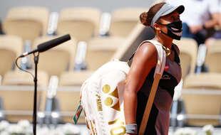 Naomi Osaka, le 30 mai 2021 à Roland-Garros.