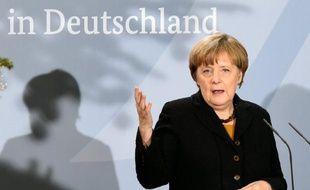 La chancelière allemande Angela Merkel à Berlin, le 7 décembre 2015