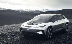 La FF91 de Faraday Future ne sortira qu'en 2018.