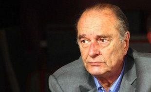 L'ancien président Jacques Chirac, à Saint-Tropez, le 7 août 2011.