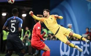 Hugo Lloris lors de France-Belgique en demi-finale de Coupe du monde, le 10 juillet 2018.