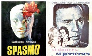 Détails de deux affiches de films d'Umberto Lenzi.