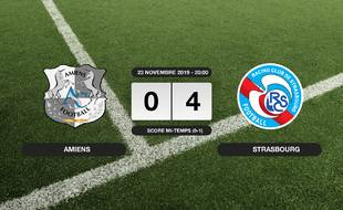 Ligue 1, 14ème journée: Victoire écrasante pour Amiens sur le RC Strasbourg (0-4)