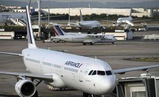 Des avions d'Air France immobilisés le 18 septembre 2014 sur le tarmac de l'aéroport d'Orly en raison de la grève des pilotes