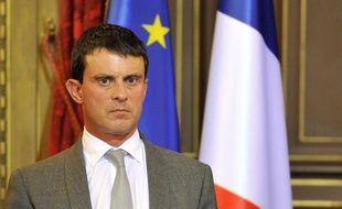 Le ministre de l'Intérieur Manuel Valls, le 17 septembre 2013 à Nice.