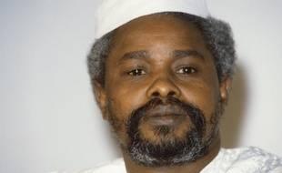 L'ex-président tchadien Hissène Habré  à N'Jamena, le 17 janvier 1987