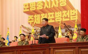 Le président nord-coréen Kim Jong-Un à Pyongyang début décembre 2015.